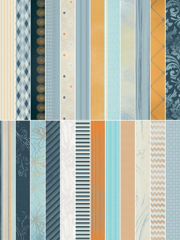 Clean Slate Blue Designer Border Strips